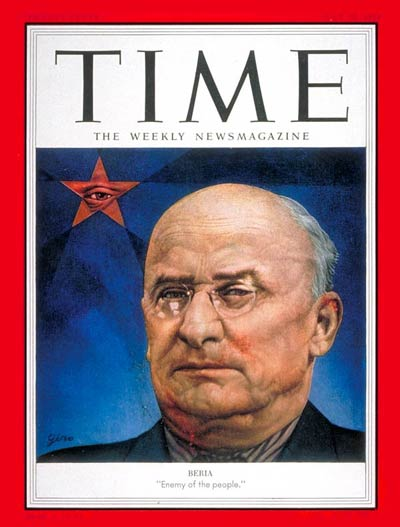 "Beria: Enemy of the people"". TIME magazine cover, July 20, 1953"